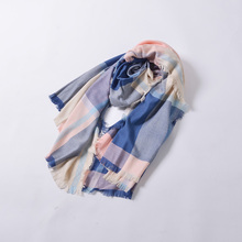 100%Acrylic plaid wide scarf multi colored fashion scarf hot sales