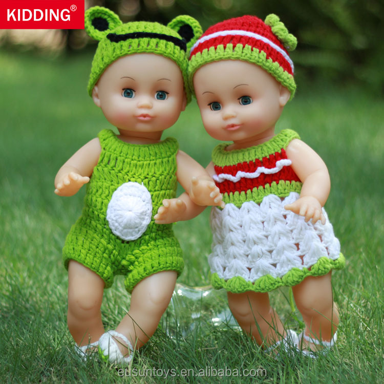 13.8 inch/35CM Baby <strong>Doll</strong> With Milk cotton Clothes Can Blink/Pronounce Voice Children's Practice Dressing Bathe Toy