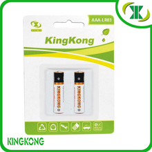 1.5V LR03 AAA aluminum jacket Alkaline battery with 150mins charge time