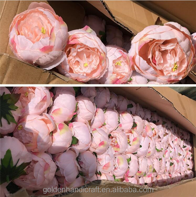 Wholesale Artificial <strong>Flower</strong> Large Peony Heads For Wedding Decoration