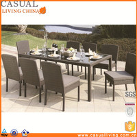 Luxury royal outdoor Patio 9 Piece dining sets cebu rattan furniture