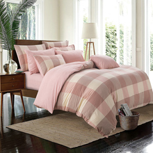 4pcs 100% cotton yarn dyed duvet cover sets bed sheet bedding set