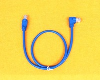 Cat5e Lan Cable with RJ45 connector right/up/dowm angled