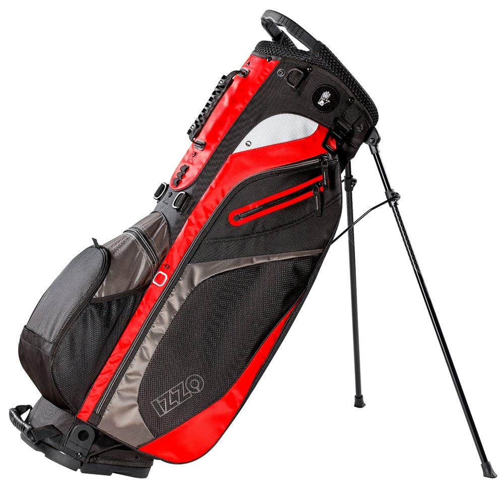 Izzo Lite Stand Golf Bag Black Red Green Or Blue Carry