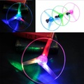 10Pcs lot large Amazing LED Multicolor Light Arrow Rocket Helicopter rotating Flying Toy Christmas Party Fun
