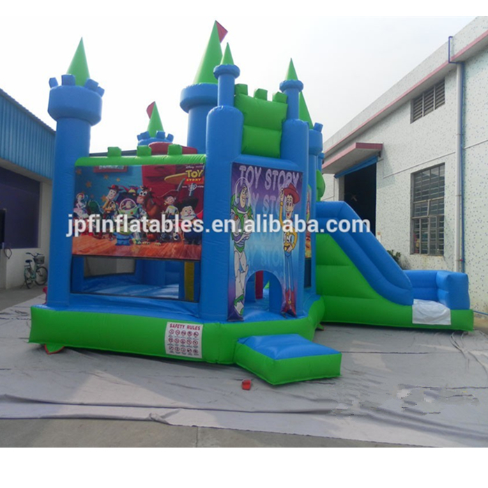 Inflatable castle combo for story, inflatable bouncer combo toys