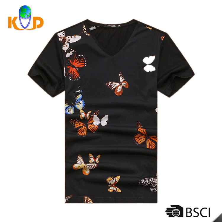 Design Your Own Cotton T Shirt/Custom T Shirt Printing/Men's T Shirt Made In China