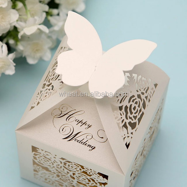 Butterfly Laser Cut Paper Box/wedding Box/wedding Paper Box - Buy ...
