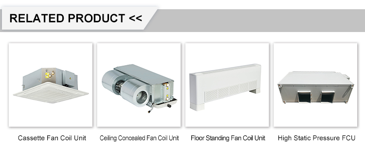 HVAC Systems Central Air Conditioner 2 Pipe 4 Way Cassette Fan Coil Unit