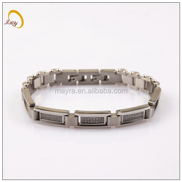 Most Profitable Products Mosaic Charm Bracelet Biker Chain Link Bracelet Stainless Steel Bracelet