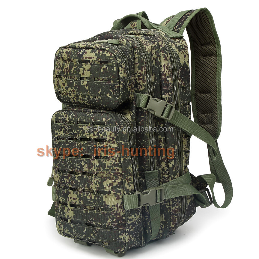 High quality 3 Day Laser Cut Molle System Army Outdoor Rucksack Military Tactical Camo Backpack Bag