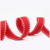 16MM polyester white saddle stitched red color grosgrain celebrate it ribbon