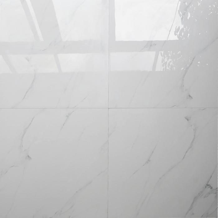 Hb6253 24x24 Valencia White Polished Porcelain Floor Tiles 600x600 Tile