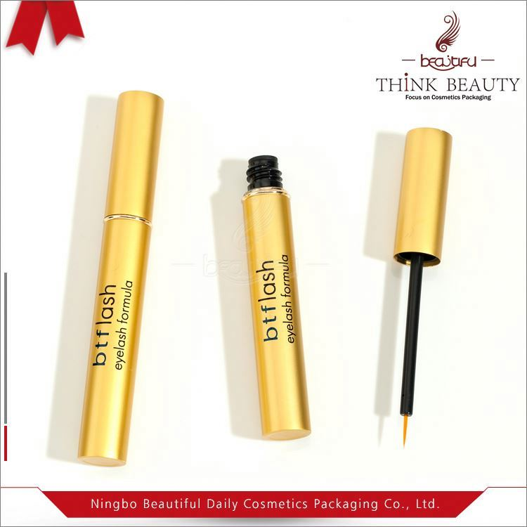 Black ball shape eyelash serum/ liquid eyeliner bottle cosmetics eyeliner tube