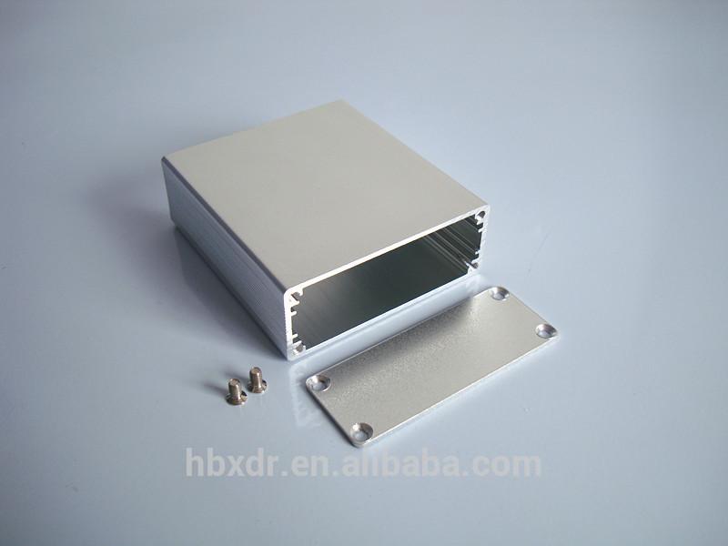 Custodie Strumento Scatola Di Alluminio Anodizzato Argento Recinto
