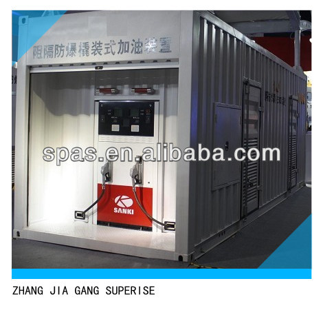 mobile fuel tank container station,oil station,petrol and diesel station for sale
