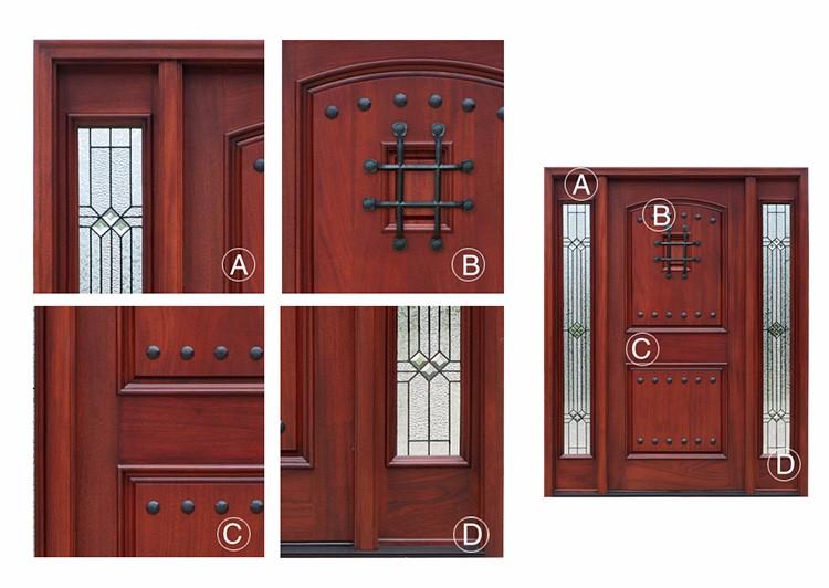 Proveedor foshan moderna villa principal puerta madera de for Puertas de madera con vidrio para exterior