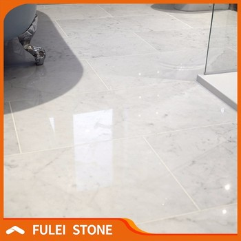 Italy Bianco Carrara White Marble 24x24 Tiles Price Square Meter Product