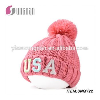 8bbf7d102b9 New arrival factory wholesale funny knitted hat acrylic knit hats womens  knitted winter hats