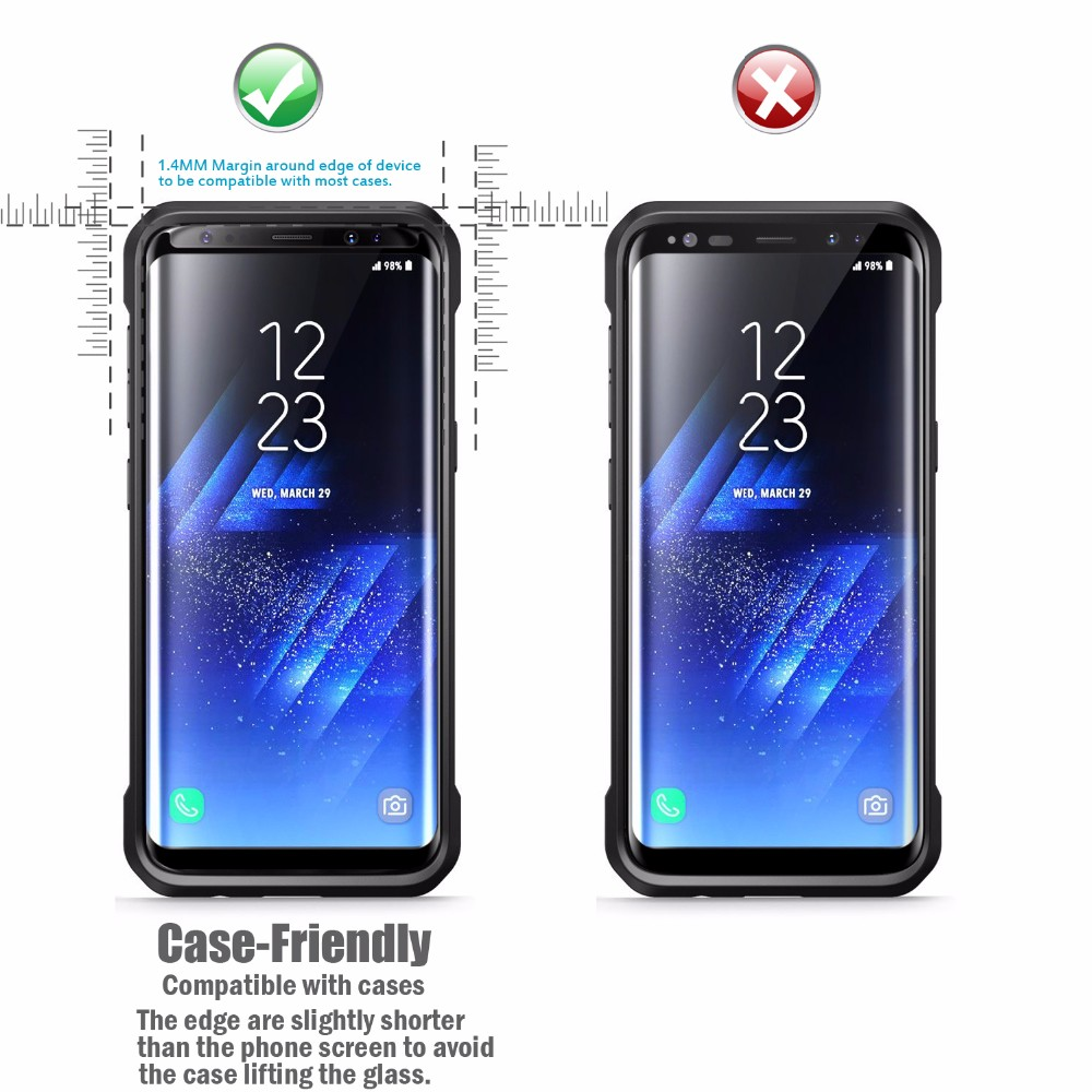 Full Cover 3D Curved For Samsung galaxy s8 s8 Plus tempered glass screen protector / tempered glass for Samsung galaxy s8