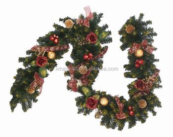 Multri color artificial pet tinsel garland with glitter decorative