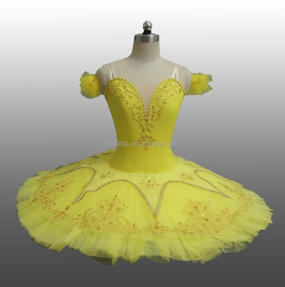 09e9caeb4 BLY1101-C Adult performance yellow classical ballet professional pancake  tutu