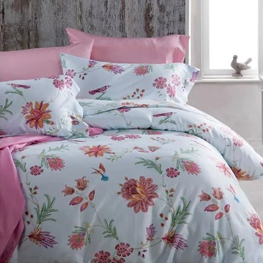 Nantong good breathable flower printed cotton bed sheet
