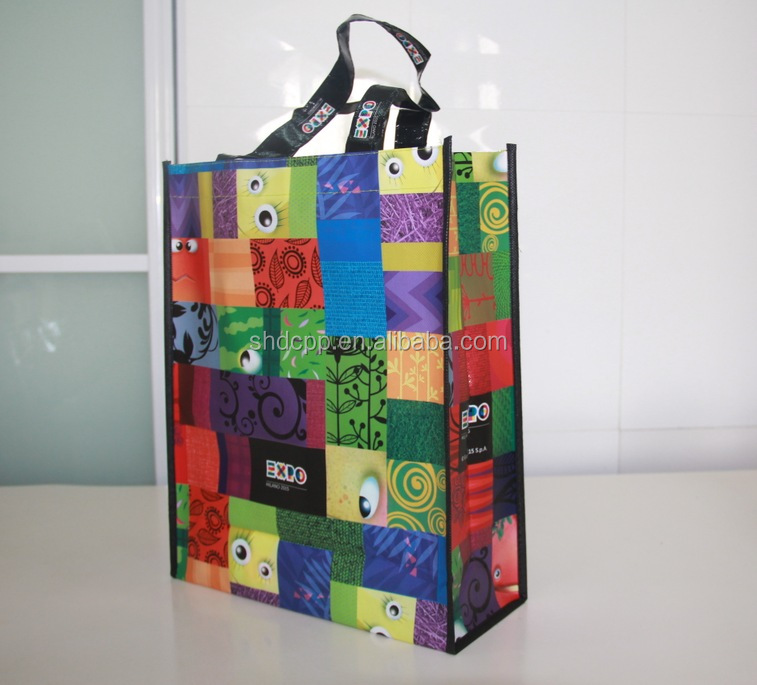 color printed EXpo recyclable pp non woven bag for promotion