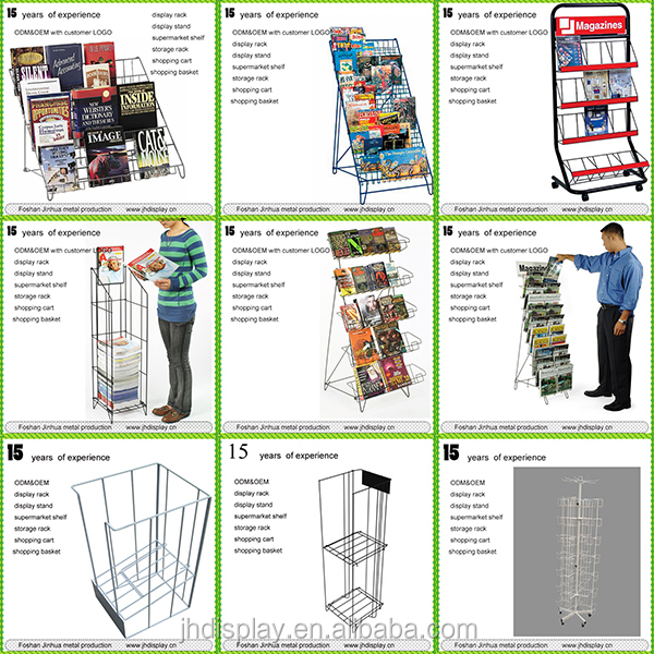 Wholesale Market Metal Rack Newspaper Stand/ Book Stands Display ...