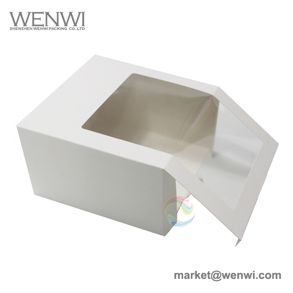 Wholesale Cheap Low MOQ Clear Window Baseball Cap Packaging Box