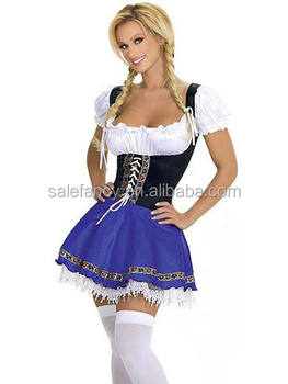 Best seller halloween women traditional german dress costume QAWC-5976  sc 1 st  Alibaba & Best Seller Halloween Women Traditional German Dress Costume Qawc ...