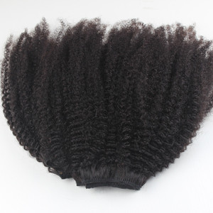 Natural hair style for black women natural color afro kinky curly 4a/4b/4c hair clip in extensions