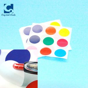 Factory Custom Round Color Coding Dot Label - Bulk Pack - One Roll Each Red, Yellow, Green, Blue, Orange