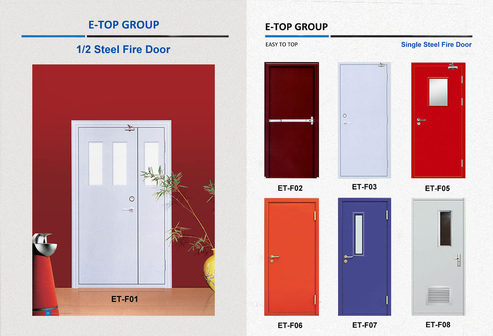 E Top Top Quality Emergency Exit Steel Hotel Fire Rated