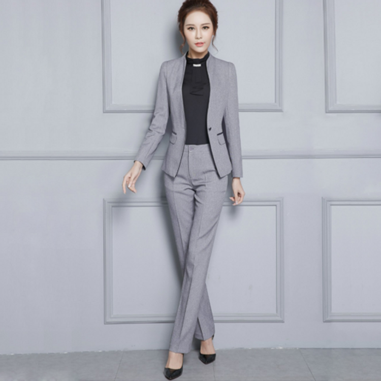 jacket + Pants Customized New Fashion Trend Womens Single-breasted Slim Suit Two-piece Womens Business Suits Diversified Latest Designs