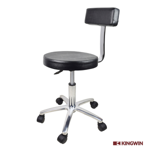 Professional Black Salon Barber Round Rolling Stool