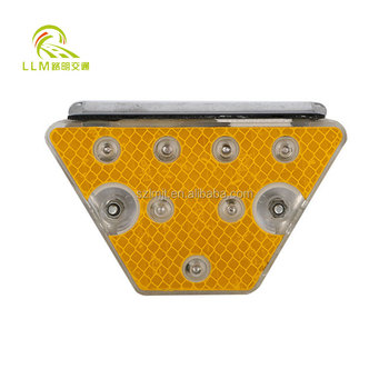 IP68 waterproof trapezoid solar LED road safety guardrail signs reflector