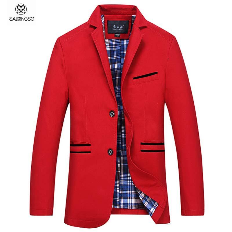 Super Large Size Men Blazer Slim Fit 8XL 7XL 6XL Red Green