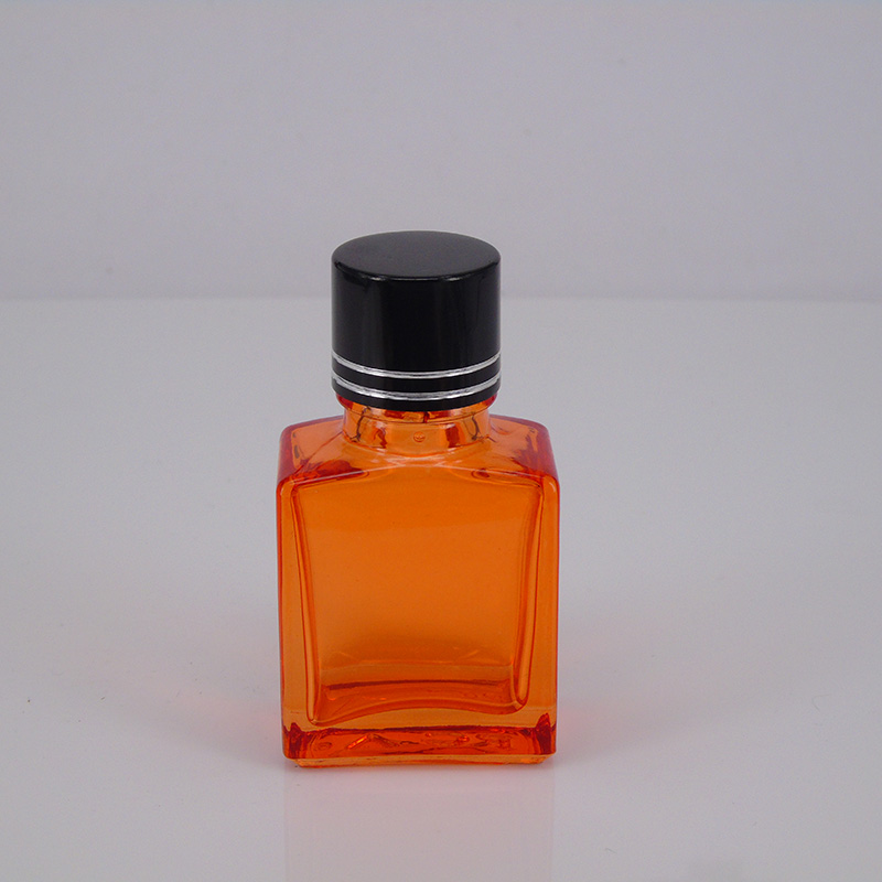 transparent orange 15ml rectangle glass bottles screw bottle for Vapor E Liquid