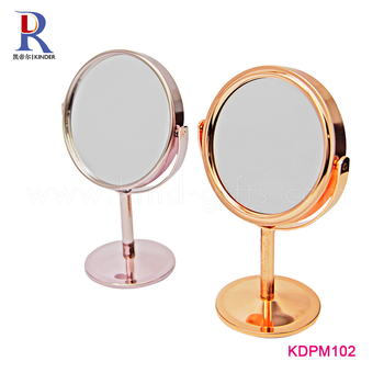 Round table stand mirror customized middle-sized makeup mirror