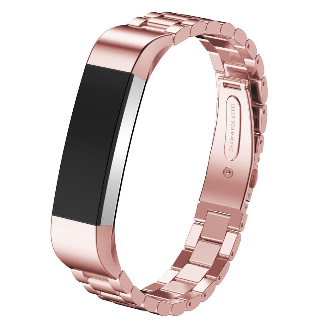 Fitbit Alta Smart Watch Accessories Band,Elevin(TM) Stainless Steel Watch Band Wrist strap for Fitbit Alta Smart Watch (Rose Gold2)