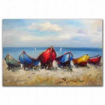 55 Lukisan Pemandangan Di Tepi Laut HD Terbaik