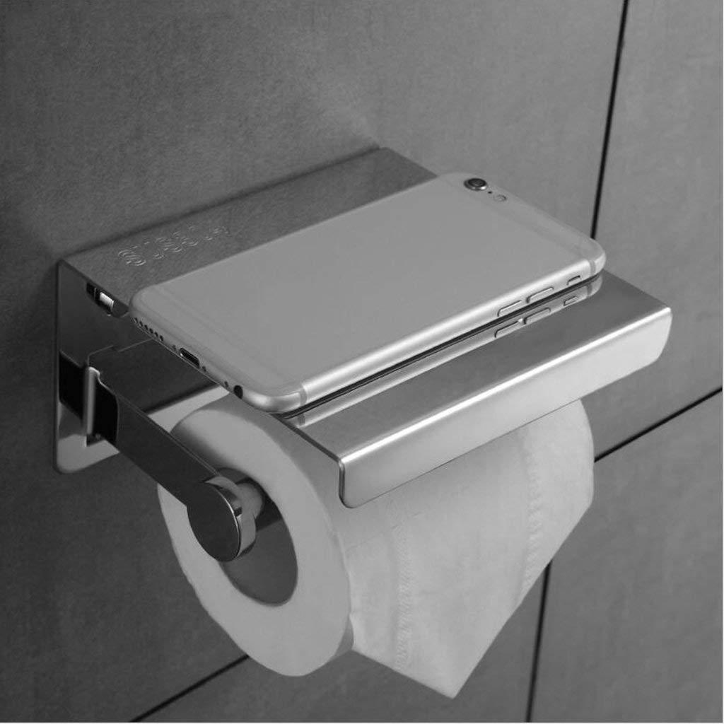 Le fu yan Toilet paper holder bathroom toilet toilet stainless steel tissue box roll holder bathroom toilet paper holder creative rack