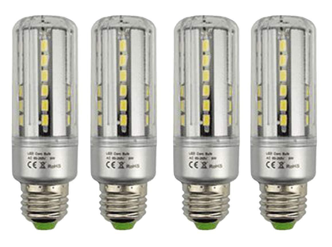 CTKcom 7W LED Bulbs LED Corn Light Bulb(4 Pack)- E26/E27 Corn Bulb 5736 SMD Super Bright White 6000K,75W Light Bulb Equivalent for Home Garage Warehouse Barn Porch Backyard Garden Lighting,AC85-265V