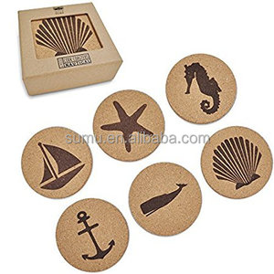 Coaster Nautical Beach Gift Cork Coasters for Drinks