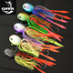High quality fishing lure silicone rubber jigs skirts lead head Jigs