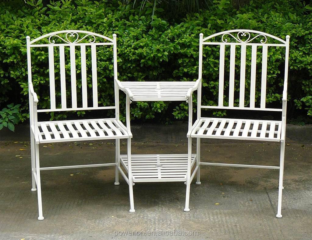 2 Seater Metal Garden Bench Ornate Cream Heavy Duty Steel Garden Furniture Buy Metal Garden