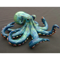Big Life Size Artificial Painted Customized Fiberglass octopus sculpture