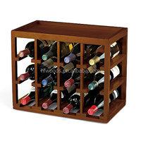 Top selling antique wooden wine rack display wine rack for wine shop