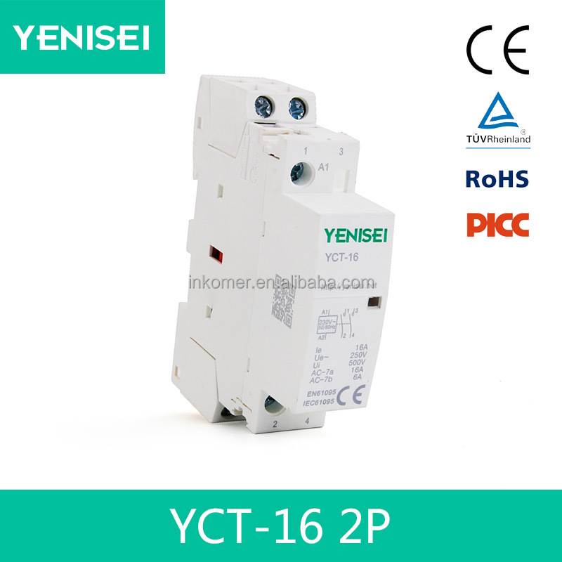 1 pole 16amp 1 no 1 nc 220v single phase electrical contactor